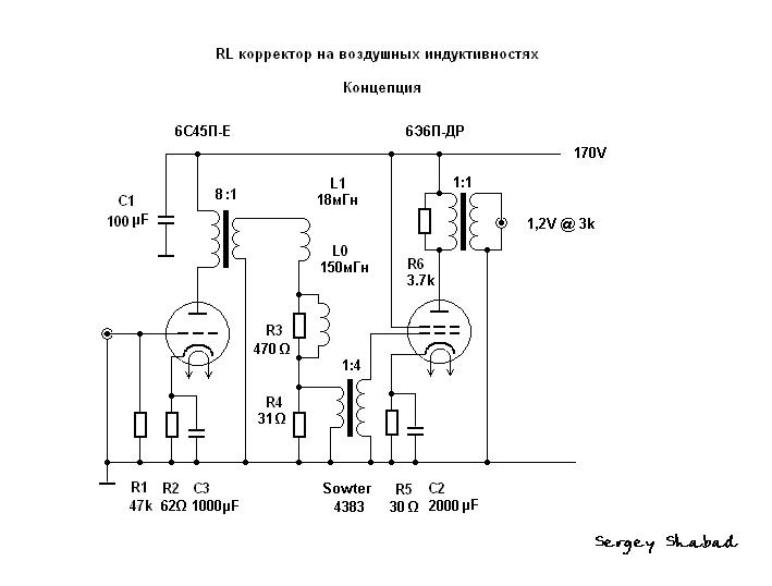 RL корректор 6С45П 6Э6П.